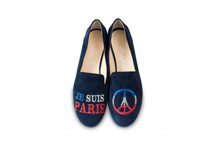 "SchoShoes Slippers ""Je suis Paris"""
