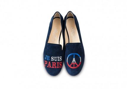 """SchoShoes Slippers """"Je suis Paris"""""""